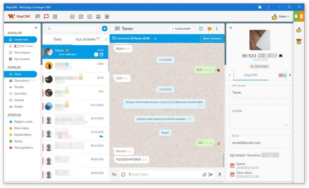 whatsapp crm v3 - multi agent